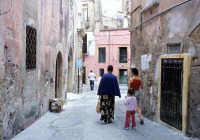 クロトーネの旧市街にて