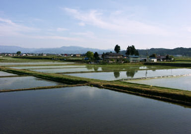 喜多方付近の農村風景