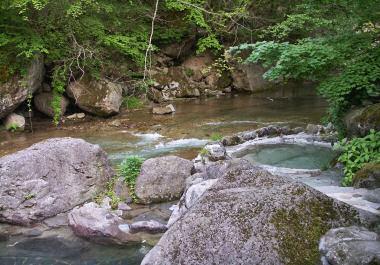 二岐温泉の露天風呂