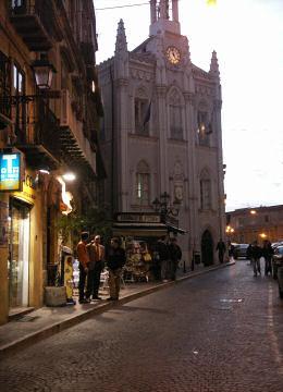 アテネ通りの夕景
