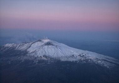 機上からのエトナ山