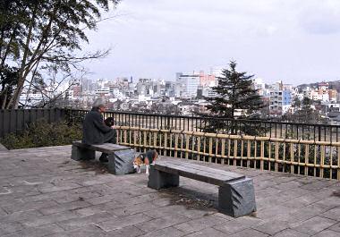 寺町から犀川対岸を見おろす