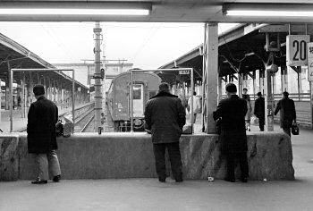 1975年の上野駅20番線ホーム
