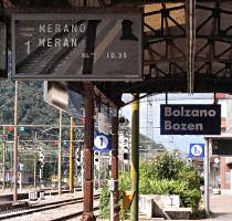 2カ国語の駅の表示