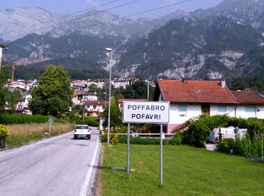 ポッファブロのイタリア語・フリウリ語表示