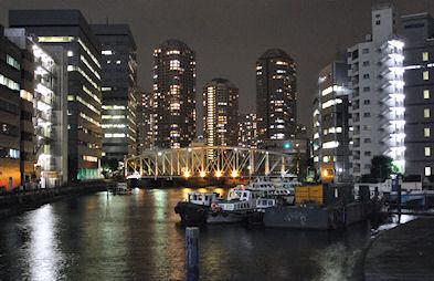 亀島川の夜景