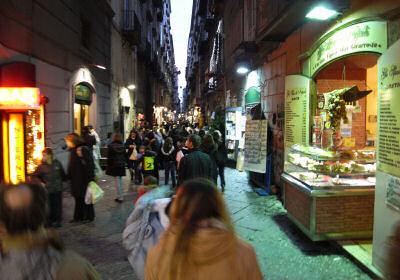 夕暮れのナポリ
