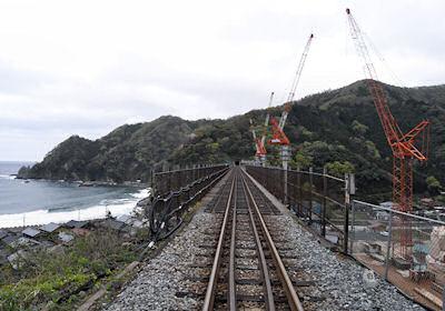 餘部駅から見た餘部鉄橋