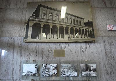昔の駅(上)と事件直後(下)の写真