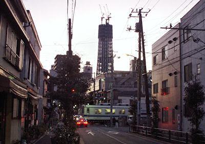 東武亀戸線と東京スカイツリー