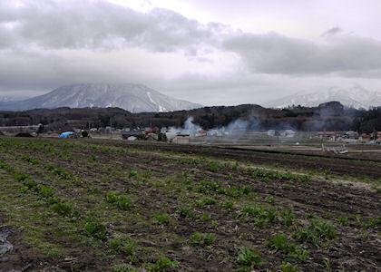 黒姫山と妙高連山
