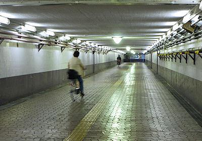 尾久駅の地下通路