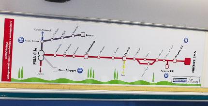 イタリア鉄道の路線図