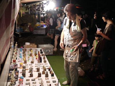 諏方神社の露店