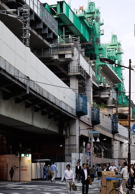 神田駅の工事