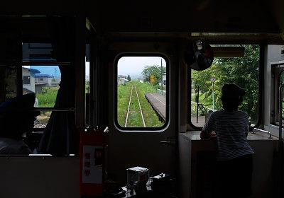 山形鉄道車内
