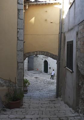 フェッラッツァーノの小さな広場