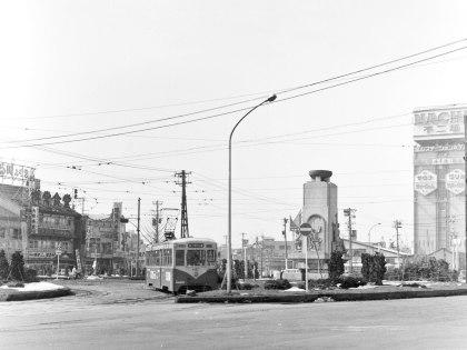 1974年の富山駅前