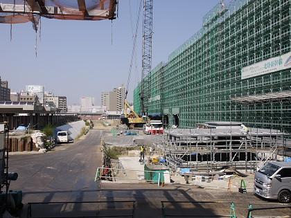 工事中の富山駅
