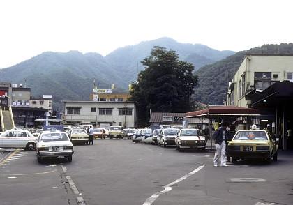 1986年釜石駅前