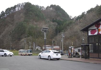 田野畑駅前
