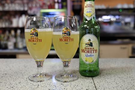 モレッティのレモンビール