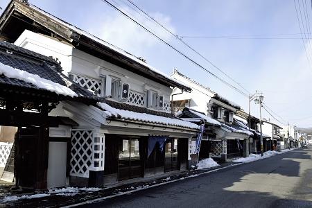 村田町の蔵造りの町並み