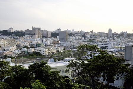 越来城跡からの眺め