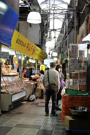 鶴橋駅前の商店街