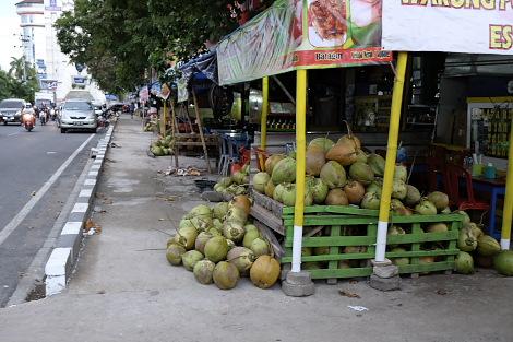 マカッサルの「椰子の実通り」