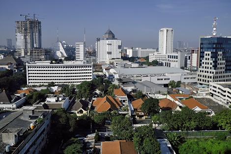 スラバヤのホテルからの眺め