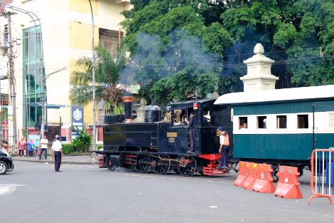 1Cタンク型の蒸気機関車