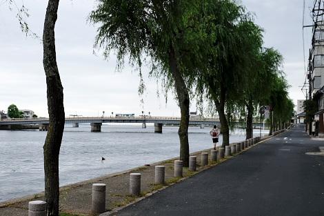 松江大橋と宍道湖