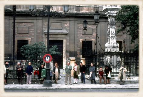 1981年のセビーリャ大聖堂前