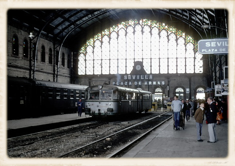1981年のプラサ・デ・アルマス駅