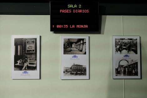 プラサ・デ・アルマス駅跡にあった写真