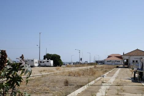 2018年の旧駅跡