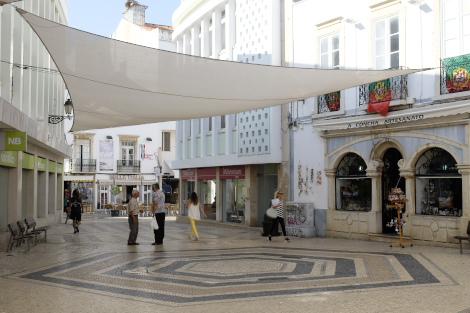 中心部の商店街