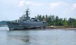 タイ国軍の船