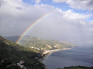 タオルミーナの虹