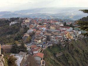 ティリオーロの上から、下の町を見下ろす