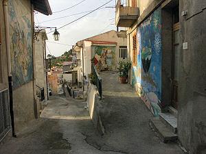 旧市街の壁画