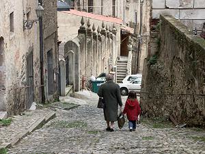 コゼンツァの旧市街にて