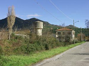駅と給水塔の跡