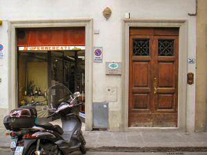 安下宿の入口(右側)