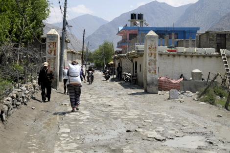 ムスタンの街道