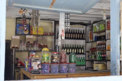 売店の内部