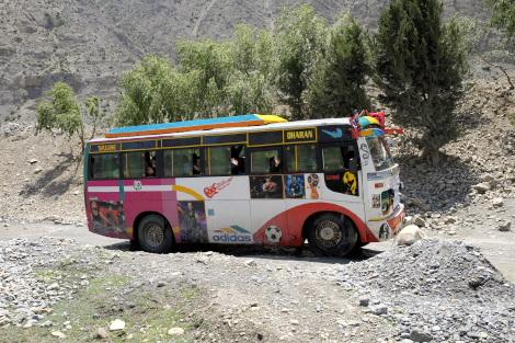 奥地からやってきた乗合バス