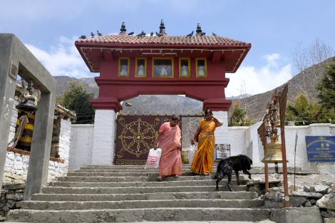 ムクティナート寺院の入口