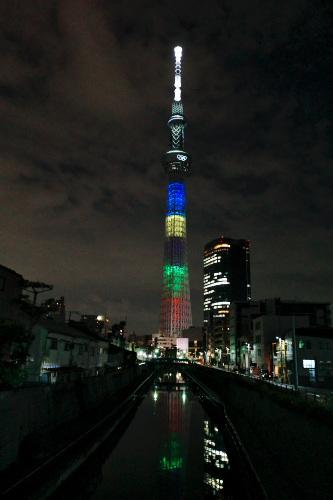 十間橋から見た東京スカイツリー